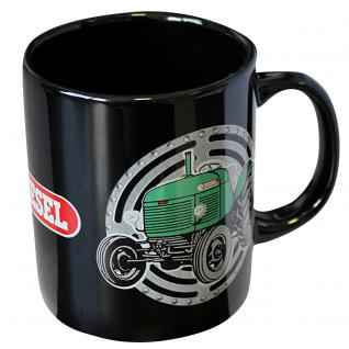 Tasse Kaffeebecher mit Print Traktor Diesel grün 54726