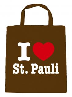 Baumwolltasche Shopper - I LOVE ST. PAULI - 08811