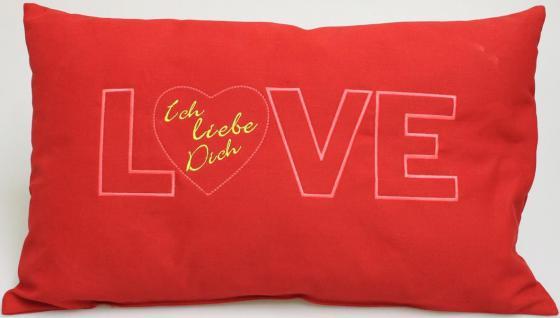 Kissen Zierkissen 55cm Geschenk Valentinstag LOVE Ich liebe Dich - 11752 - Dekokissen