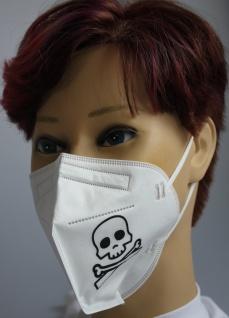 1x FFP2 Maske Deutsche Herstellung CE2797 zertifiziert mit Aufdruck - Totenkopf Knochen