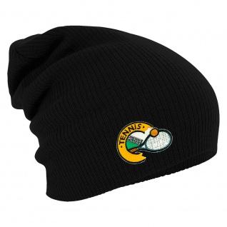 Longbeanie Slouch-Beanie Mütze Tennis 55282 schwarz