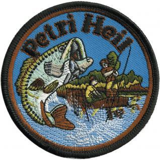 "AUFNÄHER "" PETRI HEIL"" NEU Gr. ca. 8, 5cm (04799) Patches Applikation Stick Emblem Abzeichen"