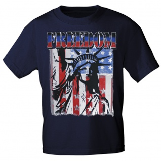 T-SHIRT Print USA Freedom Freiheitsstatue Amerika 10983 Gr. Navy / M