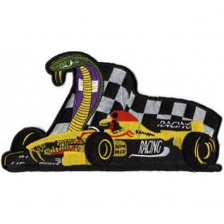 Rückenaufnäher- Racing Kart - 08082 - Gr. ca. 25 x 14 cm - Patches Stick Applikation