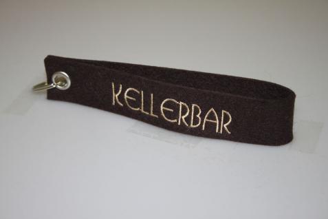 Filz-Schlüsselanhänger mit Stick - Kellerbar - Gr. ca. 17x3cm - 14417