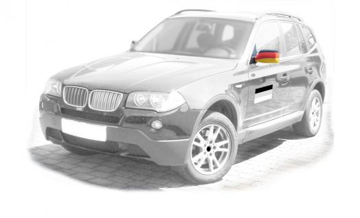 Auto-Spiegel-Fahnen 2er-Set - Deutschland - 77817 - Dekofahne Länderfahne