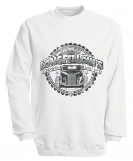 Sweatshirt mit Print - Longfellows - versch. farben zur Wahl - S10281 - Gr. weiß / M