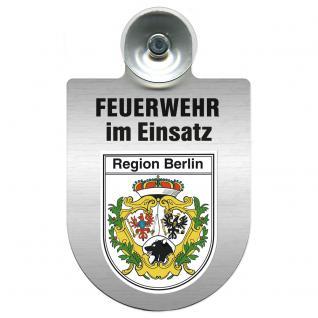 Einsatzschild Windschutzscheibe incl. Saugnapf - Feuerwehr im Einsatz - 309355 - Region Berlin