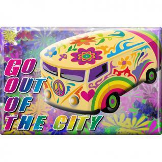 Magnet - GO OUT ... - Gr. ca. 8 x 5, 5 cm - 37969 - Küchenmagnet