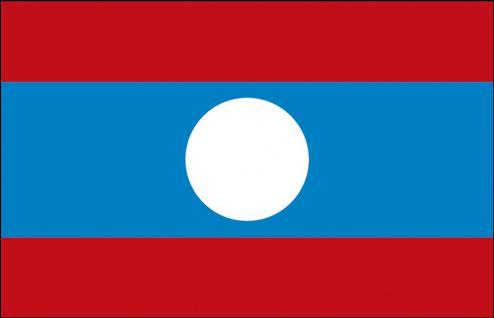Stockländerfahne - Laos - Gr. ca. 40x30cm - 77090 - Schwenkflagge