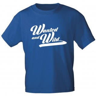 T-Shirt mit Print - Wanted and Wild - 12179 royalblau Gr. S-3XL