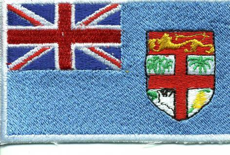 "AUFNÄHER "" FIDSCHI-INSELN"" NEU Gr. ca. 8cm x 5cm (21593) Stick Patches Applikation - Länderflagge Fahne Nation"