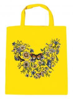 (U09840)Umweltfreundliche Baumwoll - Tasche , ca. 28 x 43 cm mit Aufdruck in 7 Farben gelb