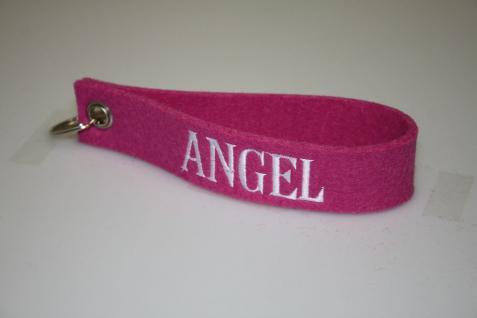Filz-Schlüsselanhänger mit Stick Angel Gr. ca. 17x3cm 14415 rosa