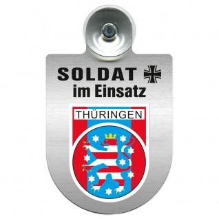 Einsatzschild Windschutzscheibe incl. Saugnapf - Soldat im Einsatz - 309392 - Region Thüringen