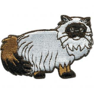 Aufnäher - Katze - 00973 - Gr. ca. 8 x 5 cm - Patches Stick Applikation