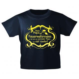 Kinder T-Shirt mit Print - Mein Papa ist Feuerwehrmann ..... - 12266 - Gr. 134/146