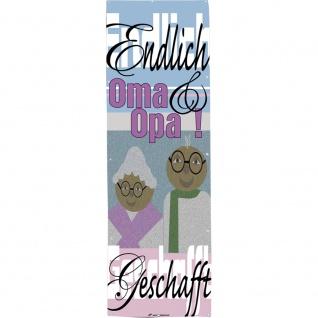 Banner Spannband - Endlich geschafft! Oma & Opa - Gr. 1m x 3m - 309948