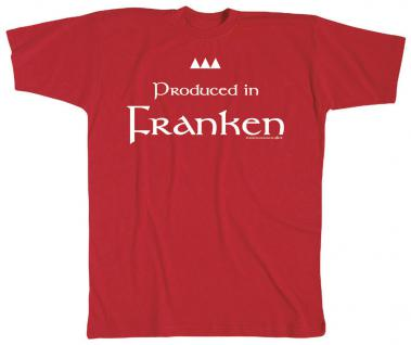 Kinder T-Shirt mit Print - Produced in Franken - 08123 - rot - Gr. 122/128