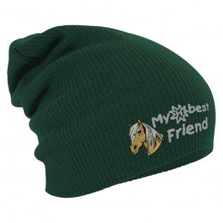 Longbeanie Slouch-Beanie Mütze Haflinger my best friend 54840 grün