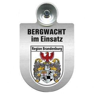 Einsatzschild Windschutzscheibe incl. Saugnapf - Bergwacht im Einsatz - 393807 - Region Baden