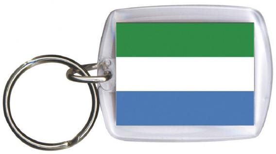 Schlüsselanhänger Anhänger - SIERRA LEONE - Gr. ca. 4x5cm - 81148 - Keyholder WM Länder
