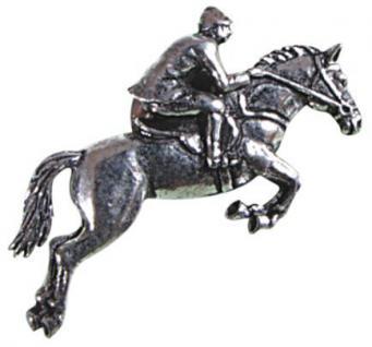 Anstecknadel - Metall - Pin - Springreiter - Pferd - Größe ca 40 x 25 mm