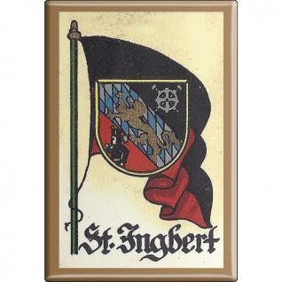 Kühlschrankmagnet - Wappen St. Ingbert - Gr. ca. 8 x 5, 5 cm - 37549 - Magnet Küchenmagnet