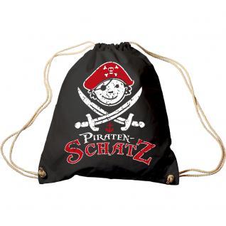 Trend-Bag mit Aufdruck - Piraten Schatz - 65033 - Turnbeutel Sporttasche Rucksack Sportbeutel