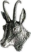 Anstecknadel - Metall - Pin - Gämse - Ziege - 02751