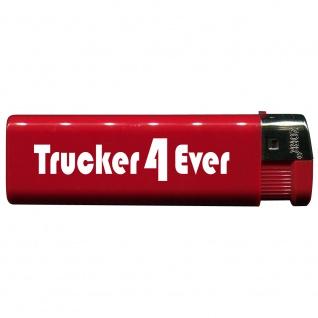 Einwegfeuerzeug mit Motiv - Trucker 4 Ever - 01166 versch. Farben rot
