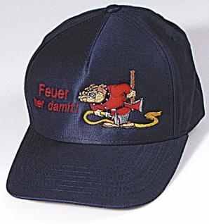 Baseballcap mit Einstickung - Feuer ... Her damit - 69610 dunkelblau
