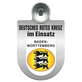 Einsatzschild Windschutzscheibe incl. Saugnapf - Deutsches Rotes Kreuz - 309356-1 - Region Baden-Württemberg - Vorschau