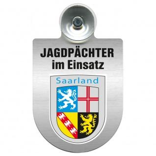 Einsatzschild Windschutzscheibe incl. Saugnapf - Jagdpächter im Einsatz - 09757 - Region Saarland