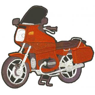 Rückenaufnäher - Motorrad - 08009 - Gr. ca. 20 x 30 cm - Patches Stick Applikation