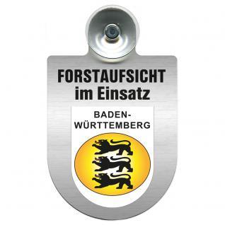 Einsatzschild Windschutzscheibe incl. Saugnapf - Forstaufsicht im Einsatz - 309377-1 - Region Baden-Württemberg