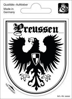 Wappenaufkleber Preussen - 301645-4 - Gr. ca. 6, 5 x 8, 0 cm