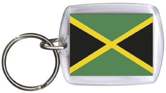 Schlüsselanhänger Keyholder - JAMAIKA - Gr. ca. 4x5cm - 81071 - WM Länder