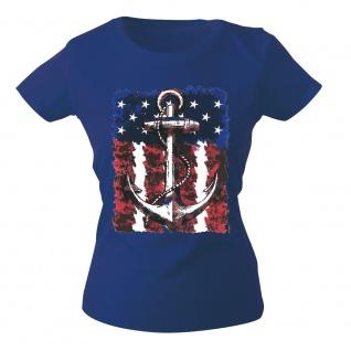 Girly-Shirt mit Print Maritim Anker Anchor G12128 Gr. Royal / XS