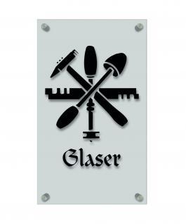 Zunftschild Handwerkerschild - Glaser - beschriftet auf edler Acryl-Kunststoff-Platte ? 309431 schwarz