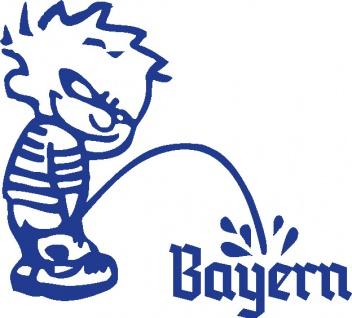 Aufkleber Applikation - Pinkelmänchen Bayern - 303626-1 - links - blau / 15cm