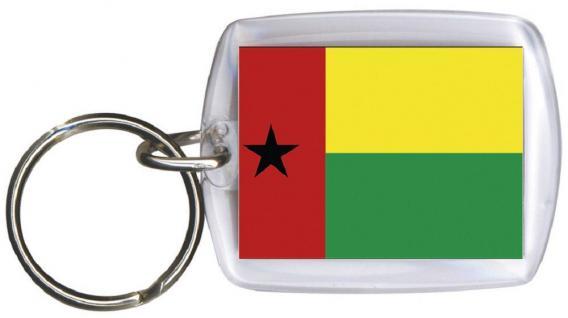 Schlüsselanhänger Anhänger - GUINEA-BISSAU - Gr. ca. 4x5cm - 81059 - WM-Länder