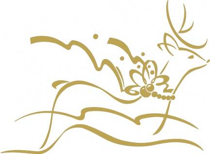 Wandtattoo Dekorfolie Retier WD0802 - gold / 90cm