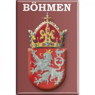 Kühlschrankmagnet - Wappen Böhmen - Gr. ca. 8 x 5, 5 cm - 38102 - Küchenmagnet