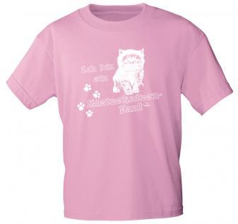 Kinder T-Shirt - Ich bin ein Mietzekatzen-Fan - 08611 rosa - Gr. 134/146