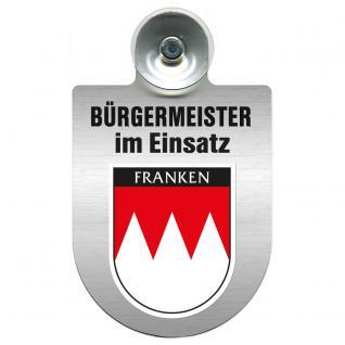 Einsatzschild Windschutzscheibe incl. Saugnapf - Bürgermeister im Einsatz - 309395-18 Region Franken