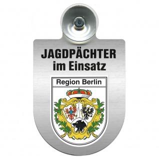 Einsatzschild Windschutzscheibe incl. Saugnapf - Jagdpächter im Einsatz - 09757 - Region Berlin
