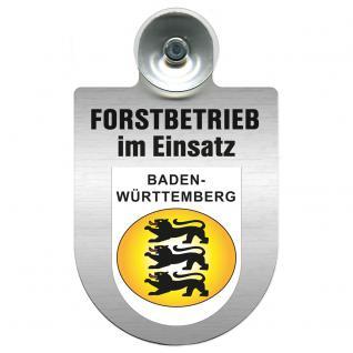 Einsatzschild Windschutzscheibe incl. Saugnapf - Forstbetrieb im Einsatz - 309374-1- Region Baden-Württemberg