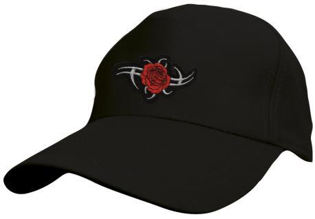 Kinder - Cap mit trendiger Tribal-Bestickung - Tribal Rose - 69132-5 schwarz - Baumwollcap Baseballcap Hut Cap Schirmmütze