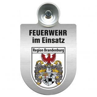 Einsatzschild Windschutzscheibe incl. Saugnapf - Feuerwehr im Einsatz - 309355 - Region Brandenburg